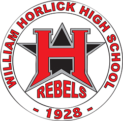 William Horlick High School Rebels Logo