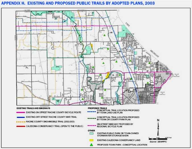 Caledonia Existing and Proposed Public Trails